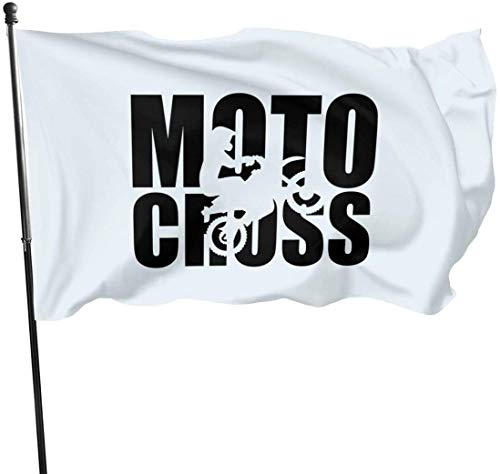 Oaqueen Flagge/Fahne Motocross Evolution Decorative Fahnen Flaggen, 3 X 5 Ft Flag for Outdoor Indoor Home Decor