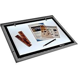MiniSun LightPad. Tablette Lumineuse à LED rétro-éclairé. Graphique Ultra-Plate Format A3. Tatouage, BD, Dessin, Photo, Arte, Immobilier, Affichage, Manga. BLOC NF/Euro