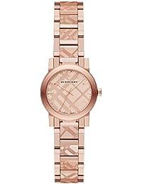Chapado en oro de Burberry BU9235 26 mm caja de acero inoxidable de oro rosa y chapado en oro de acero inoxidable para el reloj de Zafiro Sintético de las mujeres