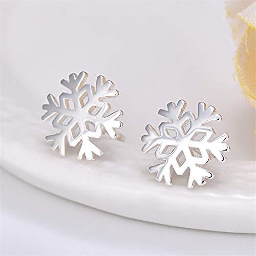LPOHNFGH Ohrringe 925 Sterling Silber Schneeflocke Ohrstecker für Frauen Geburtstagsgeschenk Schmuck - Ear Cuff Schneeflocke