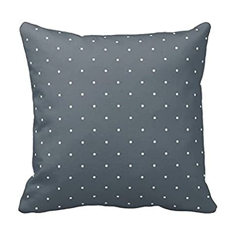 Blanc Polka Dots Style shabby chic Bleu Couvre-lit Taie