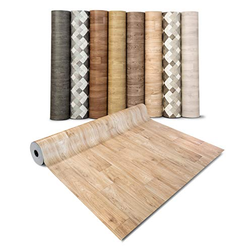 casa pura® CV Bodenbelag Antique Oak - extra abriebfester PVC Bodenbelag (geschäumt) - Eiche Antik - edle Holzoptik - Oberfläche strukturiert - Meterware (200x350 cm)