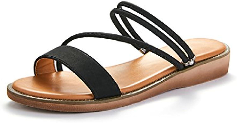 JIANXIN Sandali Femmina Pantofole Piatte Semplice E Raffinato Due Modi di Indossare Catena di Coloreee Solido Casuale... | A Prezzo Ridotto  | Gentiluomo/Signora Scarpa