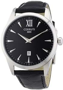Cerruti - CRA066A222A - Montre Homme - Quartz Analogique - Bracelet Cuir Noir