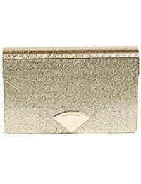 Michael Kors Barbara Gold Metallic Envelope Clutch Bag