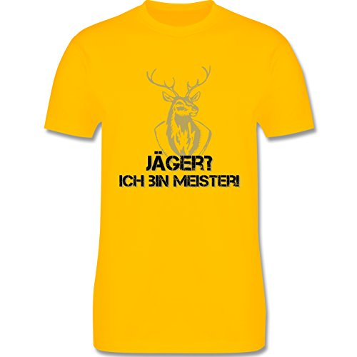 Après Ski - Jäger? Ich bin Meister! - Herren Premium T-Shirt Gelb