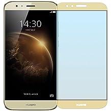 Cristal Templado Protector de Pantalla Para Huawei G8 (GX8) (Gold)- NEVEQ® Vidrio Templado, el Huawei G8 GX8 Full Screen Gold (5.5) Pulgadas piel Protectora de la Cubierta.