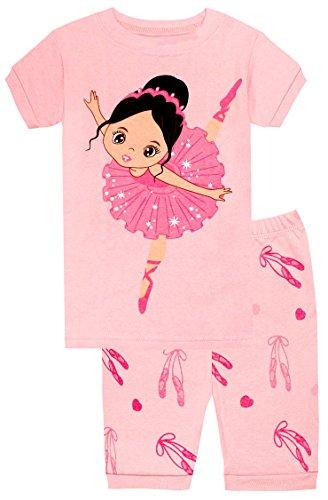 Schlafanzug Kinder Ballerina - Design Pyjama Mädchen Short (Görßen 2-10 Jahre) 5 Jahre ()