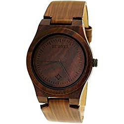 Pure Time® Designer Unisex Dark Brown Leather Strap Watch - Limited Edition + Watch Box