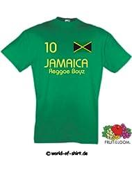 world-of-shirt Herren T-Shirt Jamaica Reggae Boyz im Trikot Look