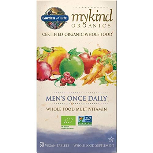 Garden of Life mykind Organics Men's Once Daily - 30 Tabletten Bio Multivitamin für Männer