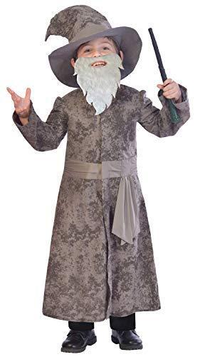 Fancy Me Jungen Grau 4 Stück Wise Zauberer TV Buch Film Welt Buch Woche Halloween Kostüm Kleid Outfit 5-12 Jahre - 11-12 Years