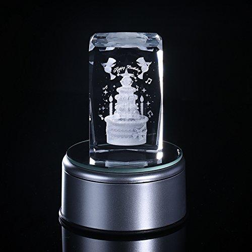 Omped Crystal Music Box Music Box Musik kreative Kuchen Weihnachten Geschenk zum Valentinstag Geschenk Heimtextilien Bestie Mädchen, Freundin, Frau, 18 Musik Base
