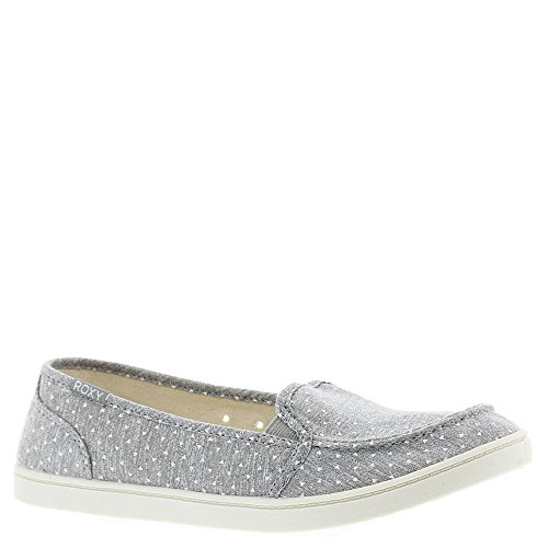Roxy , Damen Mokassins Grau Heather Grey-dots (Roxy Canvas Schuhe)