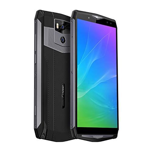 Ulefone Power 5S, Smartphones Libres 4G Batería Grande 13000mAh, Android 8.1, 4GB+64GB, 6.0\'\'FHD, OctaCore, Doble Cámaras Traseras, Doble SIM, Carga Inalámbrica&Rápida, Desbloqueo Facial (Gris Oscuro)