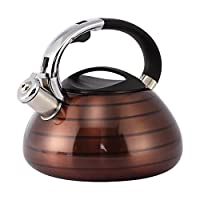 Tea Kettle - Stainless Steel Stove Top Whistling Tea Kettle, 3-Liter by Juvale