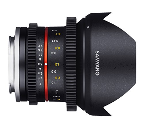 Samyang 12 mm T2.2 VDSLR Manual Focus Video Lens for Sony-E