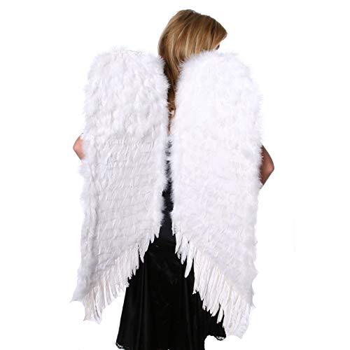 Heaven's Kostüm Angel - Large White Feather Angel Wings Standard