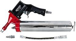 KS Tools 515.3900 Druckluft-Fettpresse mit flexiblem Schlauch und Düse