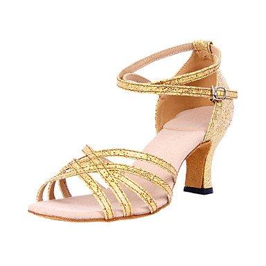 Silence @ pour femme Paillettes scintillantes supérieure Chaussures de danse latine Silver