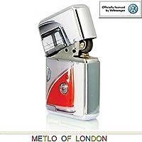 Red Volkswagen Campervan Windproof Lighter in Keepsake Tin