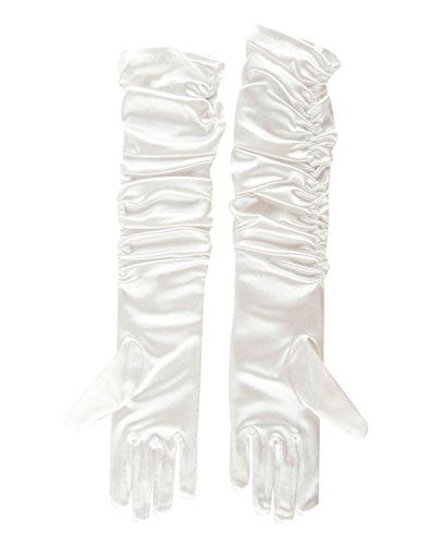en Partei Handschuhe Snow Queen Prinzessin Kostüm Handschuhe Halloween Kostüm Handschuhe DE-FR*GLO-W (FR-GLO-W) (Snow Queen Kinder Kostüm)