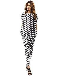 Baya I Vestiti Maxi dalla Stampa del Puntino delle Donne di Modo 2017new  Vestono Il Vestito dfcdcd7b1e9