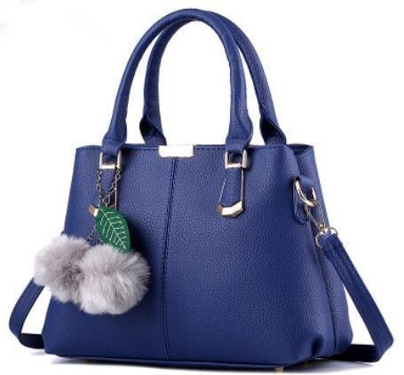 LDMB Damen-handtaschen Süße Dame atmosphärischen Mode PU Leder Frauen Schulter Handtasche Messenger deep blue