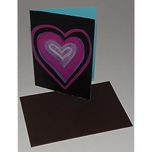 Karte DINA 6, Grußkarte, Valentinstag, Original, Acrylmalerei, Herz