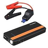 FLOUREON Jump Starter de 20000mAh, Batería Arrancador de Coche 1000A, Batería Externa Recargable, LED Flashlight, Multifunción, con Pinzas Inteligentes
