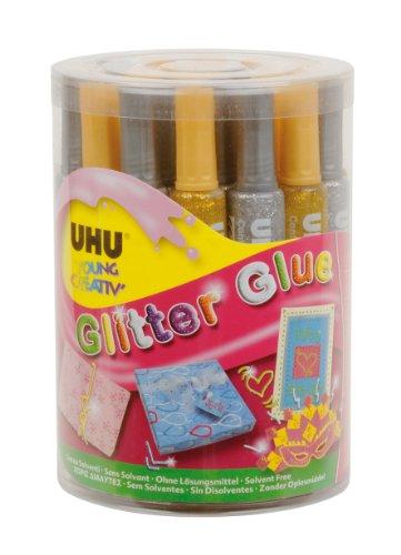 UHU Young Creativ Glitter Glue Gold/Silber 20ml 24Stück