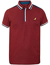 0f1f4011 Mens Kangol Jovan Polo Shirt New Designer Waffle Knit Top Cotton Pique Tee
