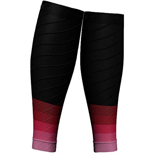 Meowoo 1 piao scaldamuscoli compressione, fascia a compressione graduata per polpaccio migliora le prestazioni sportive di corsa, resistenza, circolazione e recupero, uomo e donna