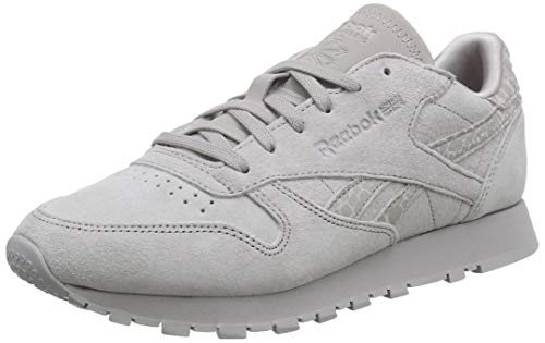Reebok Classic Leather, Zapatillas para Mujer, Gris (Reflective Exotic Material-Whisper Grey 0), 37 EU