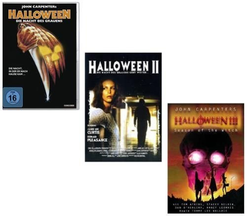 (HALLOWEEN 1 2 3 - Die Nacht des Grauens MICHAEL MYERS 3 DVD Collection * Regie: John Carpenter, Tommy Lee Wallace ; In der Hauptrolle Donald Pleasence, Jamie Lee Curtis, Nancy Loomis, et al.)