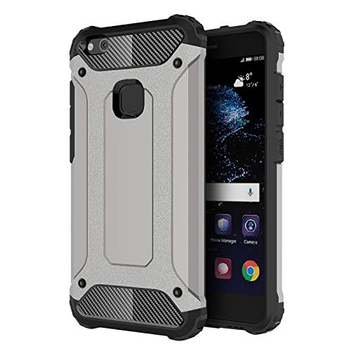 ALLSHOPSTOCK (#52) für Huawei P10 Lite Magie Armor TPU + PC Kombination Schutzhülle(grau)