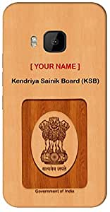 """Aakrti Mobile Back cover with your Dept: Kendriya Sainik Board (KSB).your Government ID in curious Way With """" Your Name """" Printed on your Smart Phone : Oppo R-9 PLUS"""