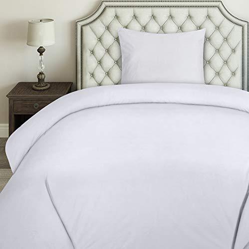 Utopia Bedding Bettwäsche-Set - Mikrofaser Bettbezug 135x200 cm und 1 Kopfkissenbezug 80x80 cm - Weiß Bettbezüge Set mit Reißverschluss