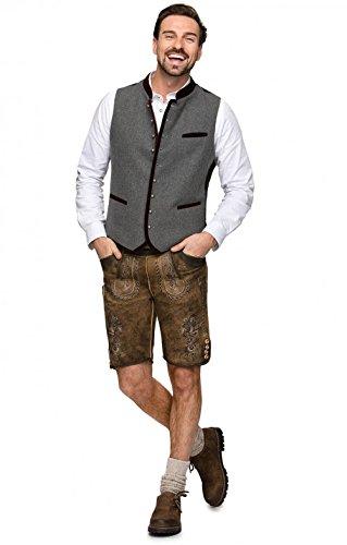 Michaelax-Fashion-Trade Stockerpoint - Herren Trachten Weste in verschiedenen Farben, Alonso, Größe:48, Farbe:Grau-Nachtblau - 6