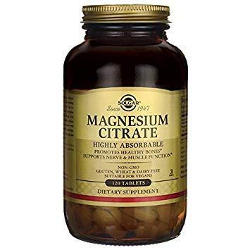 Solgar Citrato de Magnesio Comprimidos - Envase de 120