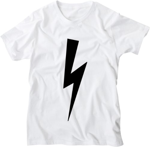 Mister Merchandise White Design Herren T-Shirt Lightning Bolt Black Weiß