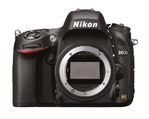 Nikon D600 SLR-Digitalkamera (24,3 Megapixel, 8,1 cm (3,2 Zoll) Display, Full HD, Live View) nur Gehäuse schwarz (D600 Nikon Slr-digitalkamera)