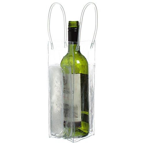 CKB Ltd® CHILL Bag Clear Ice Tote Bag Ice Umhängetasche Party/Sektkühler Flaschenkühler Weinkühler Beutel Tüten