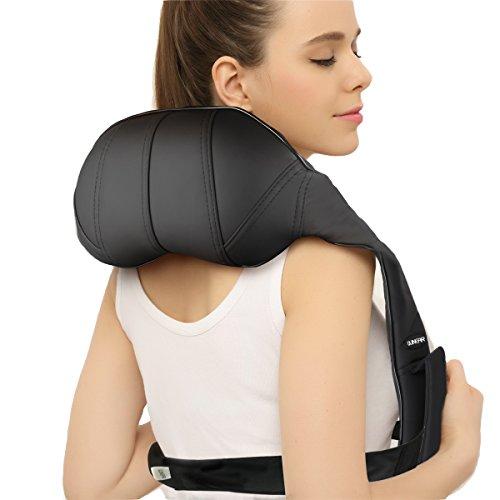 QUINEAR Schulter Massagegerät Shiatsu Nackenmassage Elektrische Schulter Nacken massagegeräte Mit Hitze 2 Richtungen 2 Geschwindigkeiten 1...