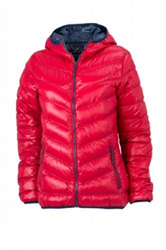James & Nicholson Damen Jacke Daunenjacke Ladies' Down Jacket rot (red/navy) Small