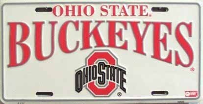 Ohio State University Buckeyes Collegiate geprägt Metall Neuheit License Plate Tag Sign 2157 -