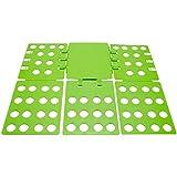 VENKON - Hemdenfalter Praktischer Wäschefalter Flip & Fold Wäsche Faltbrett - grün