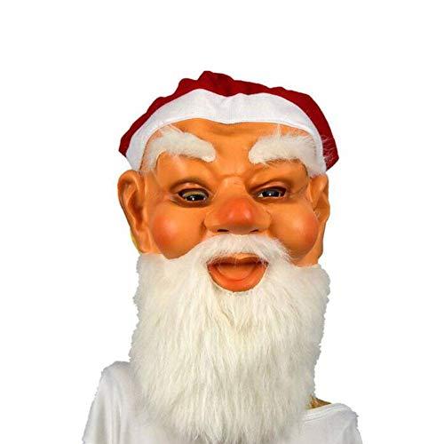 Zeit Santa Alte Kostüm - QWE Weihnachtsmaske Festliche Latexmaske Maskerade Maske Tarnung Maskerade Kostümzubehör