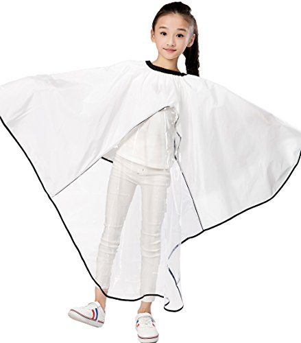 Kids Haircut Salon Cape, Hair Cutting Cape For Kid , Child Shampoo Waterproof Capes with Clear Viewing Window