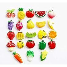 GRT Frigorífico, Frutas y Verduras combinadas, Imán de Nevera de Resina, Mini Adorno